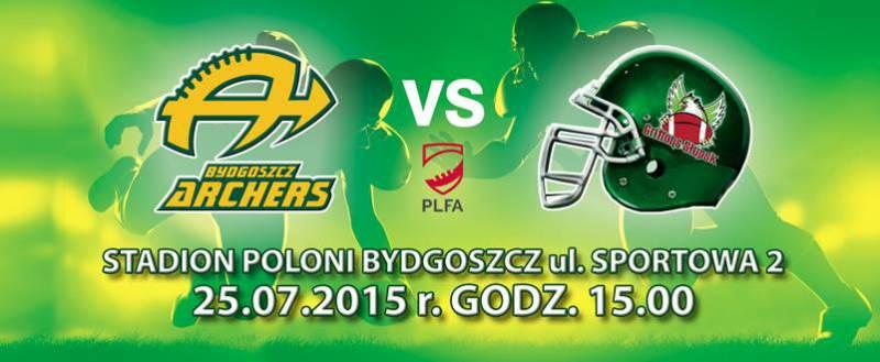 Futbol amerykański: Archers Bydgoszcz - Griffons Słupsk