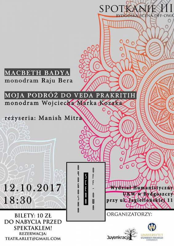 Bydgoska Scena Off-owa: monodramy Manisha Mitry
