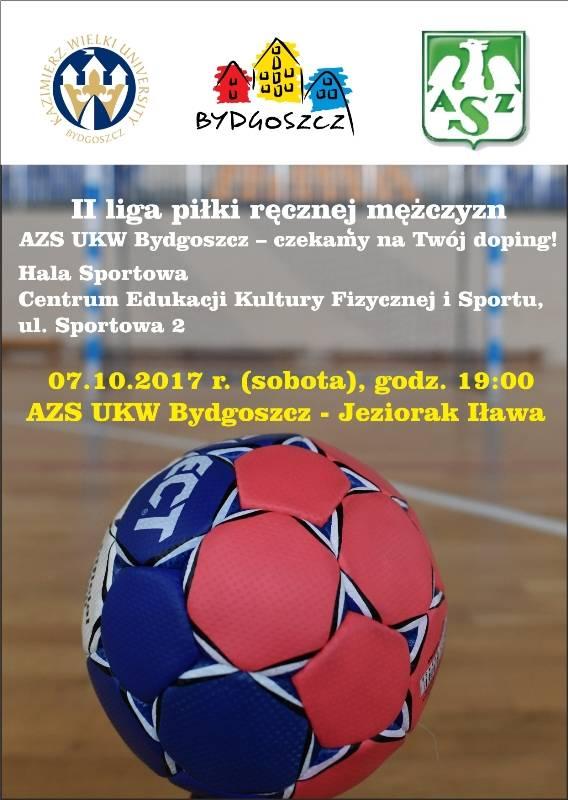 Piłka ręczna: KU AZS UKW Bydgoszcz - Jeziorak Iława