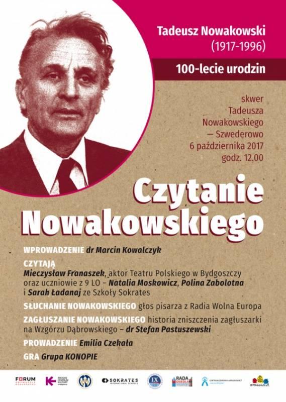 Czytanie Nowakowskiego: 100-lecia urodzin pisarza