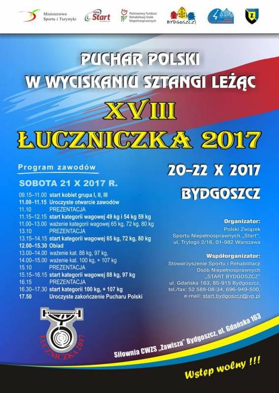 Zawody o Puchar Polski w wyciskaniu sztangi leżąc