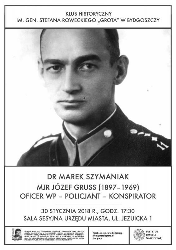 Mjr Józef Gruss - oficer Wojska Polskiego, policjant, konspirator