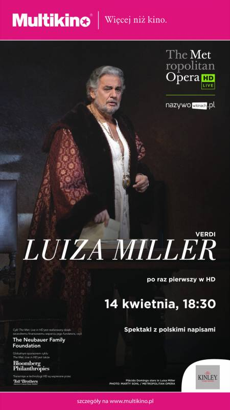 Transmisja opery: Luiza Miller