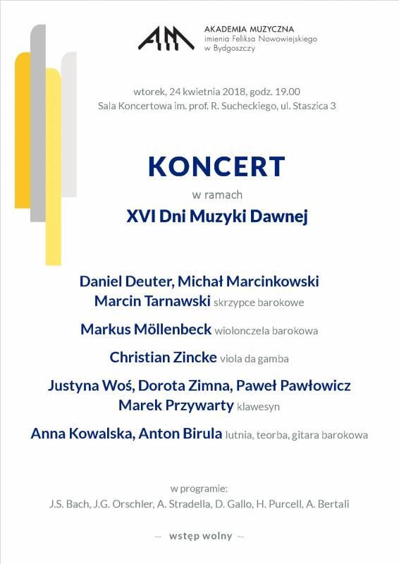 Koncert w ramach XVI Dni Muzyki Dawnej