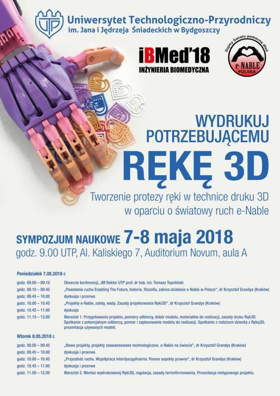 Sympozjum naukowe - Wydrukuj potrzebującemu rękę 3D