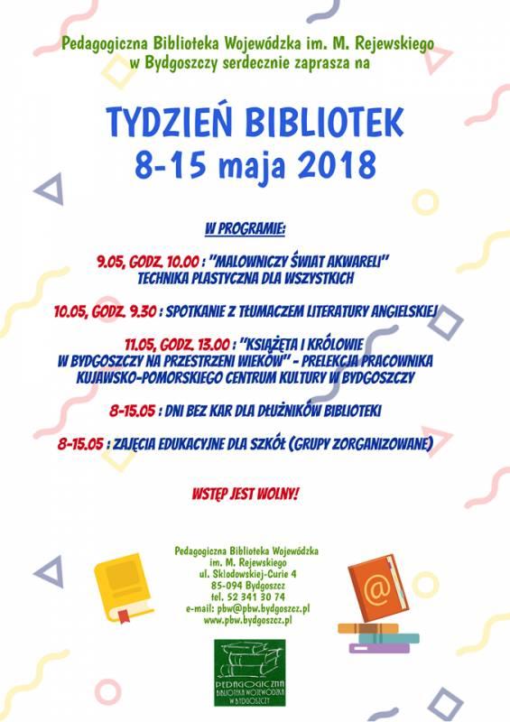 XV Ogólnopolski Tydzień Bibliotek - Pedagogiczna Biblioteka Wojewódzka