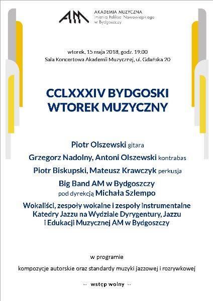 CCLXXXIV Bydgoski Wtorek Muzyczny