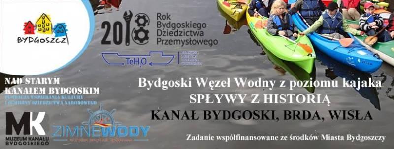 Bydgoski Węzeł Wodny z poziomu kajaka - Brda