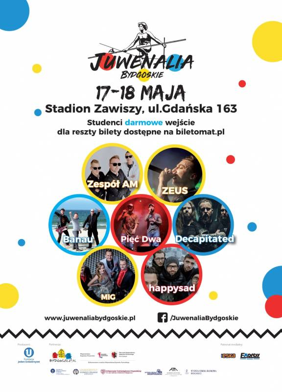 Juwenalia Bydgoskie 2018 - SUPPORT, ZEUS, Decapitated, Happysad