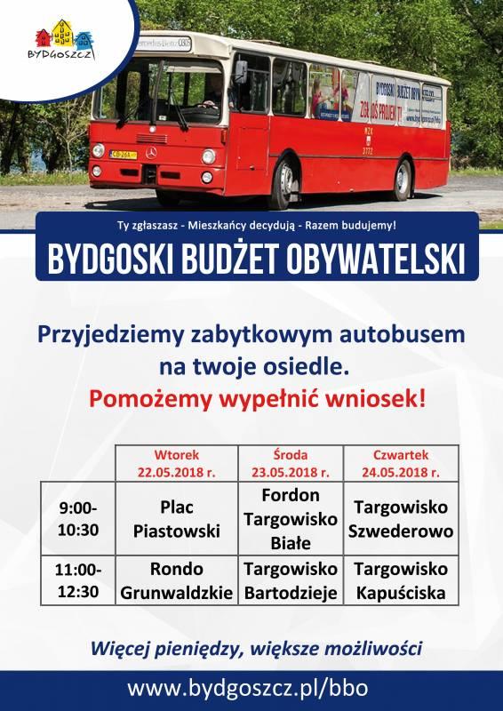 Bydgoski Budżet Obywatelski - Zabytkowy autobus na osiedlach