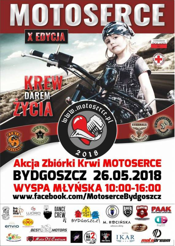 Akcja Zbiórki Krwi - Motoserce Bydgoszcz