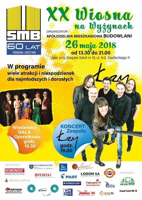 XX Wiosna na Wyżynach - festyn osiedlowy, koncert zespołu Łzy