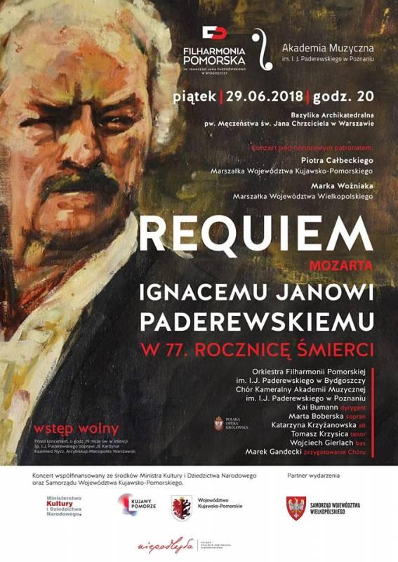 Requiem Mozarta I. J. Paderewskiemu w 77. rocznicę śmierci