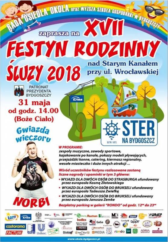 XVII edycja Festynu Rodzinnego Śluzy 2018