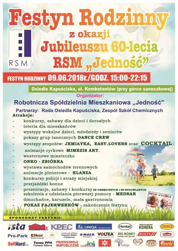 Festyn Rodzinny z okazji Jubileuszu 60-lecia RSM Jedność