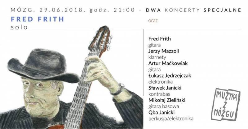 Fred Frith - koncert solo oraz septet w wyjątkowym składzie