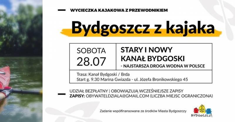 Bydgoszcz z kajaka - Stary i Nowy Kanał Bydgoski