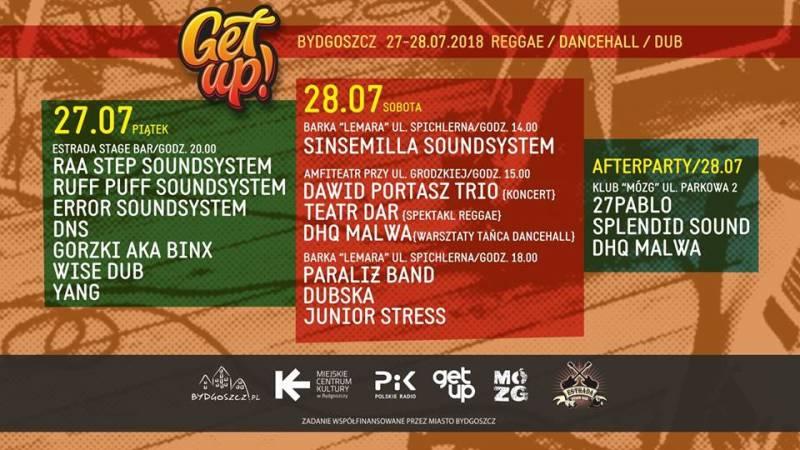 Get Up! Bygdoszcz / Reggae / Dancehall / Dub