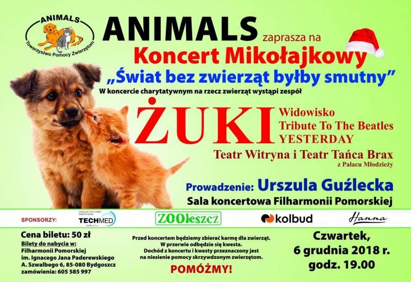 Koncert mikołajkowy - Świat bez zwierząt byłby smutny