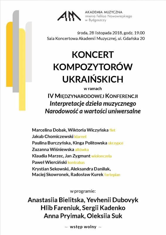 Koncert Kompozytorów ukraińskich