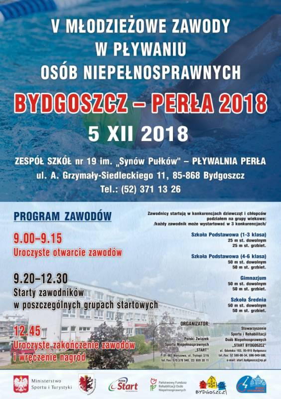 V Młodzieżowe Zawody w Pływaniu Osób Niepełnosprawnych Bydgoszcz - Perła 2018