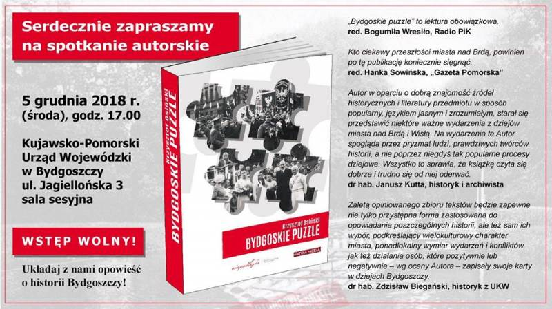 Promocja książki - Bydgoskie puzzle