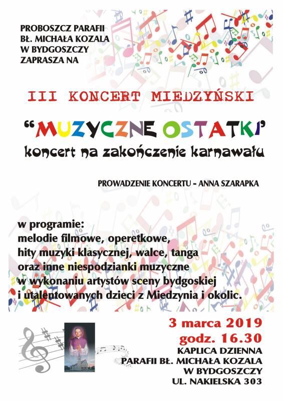 III Koncert Miedzyński - Muzyczne ostatki