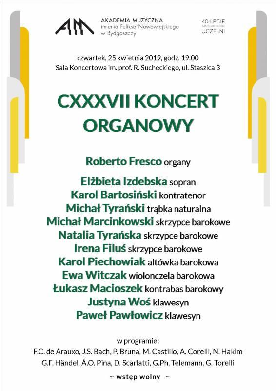 CXXXVII Koncert Organowy