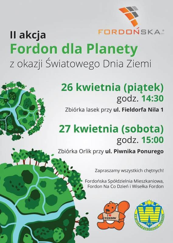 Sprzątamy Fordon - II edycja akcji Fordon Dla Planety