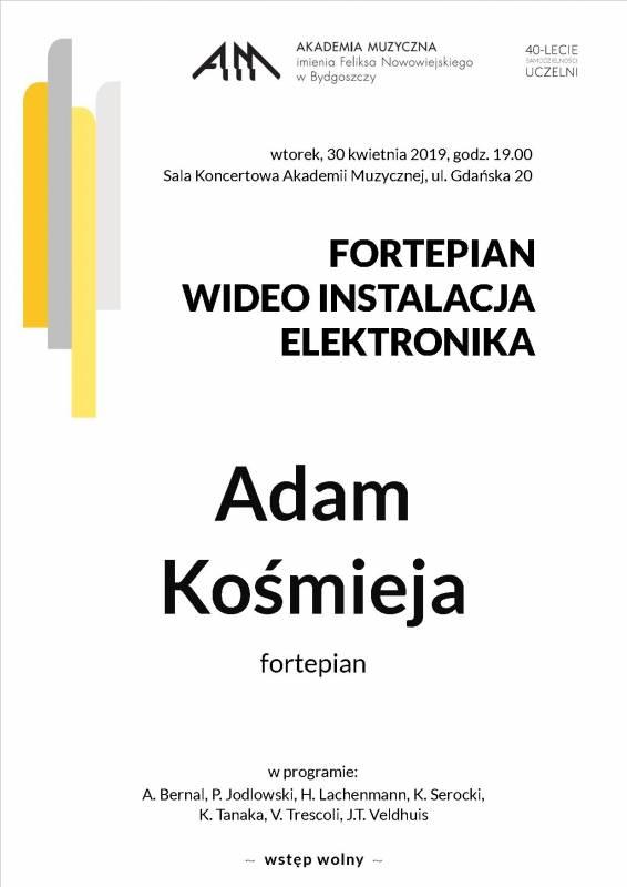Fortepian, Wideo Instalacja, Elektronika