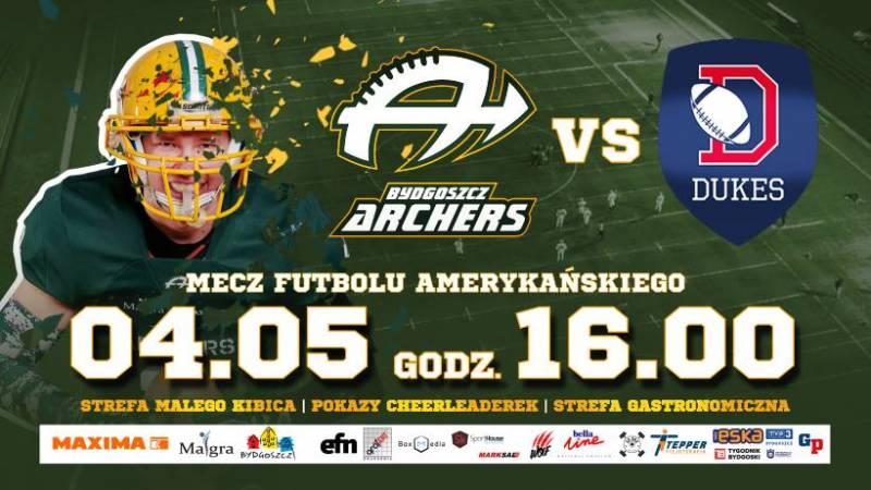 Futbol Amerykański: Bydgoszcz Archers - Dukes Ząbki - Europejska Super Liga