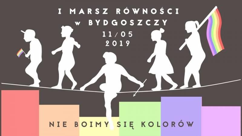 I Marsz Równości w Bydgoszczy - Nie boimy się kolorów!