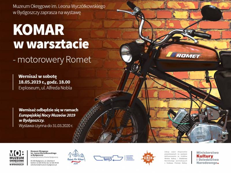 Wernisaż wystawy: KOMAR w warsztacie - motorowery Romet
