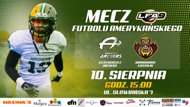Debiut w LFA 9: Archers Bydgoszcz - Barbarians Koszalin