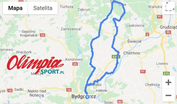 Wycieczka rowerowa do Tlenia 145km