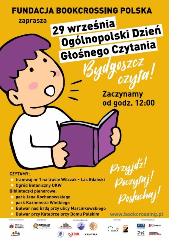 """Ogólnopolski Dzień Głośnego Czytania """"Bydgoszcz Czyta!"""""""