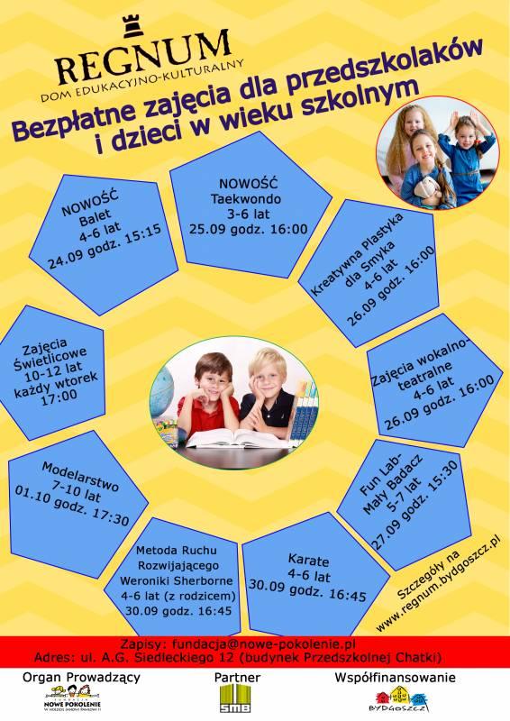 Zajęcia dla przedszkolaków i dzieci w wieku szkolnym