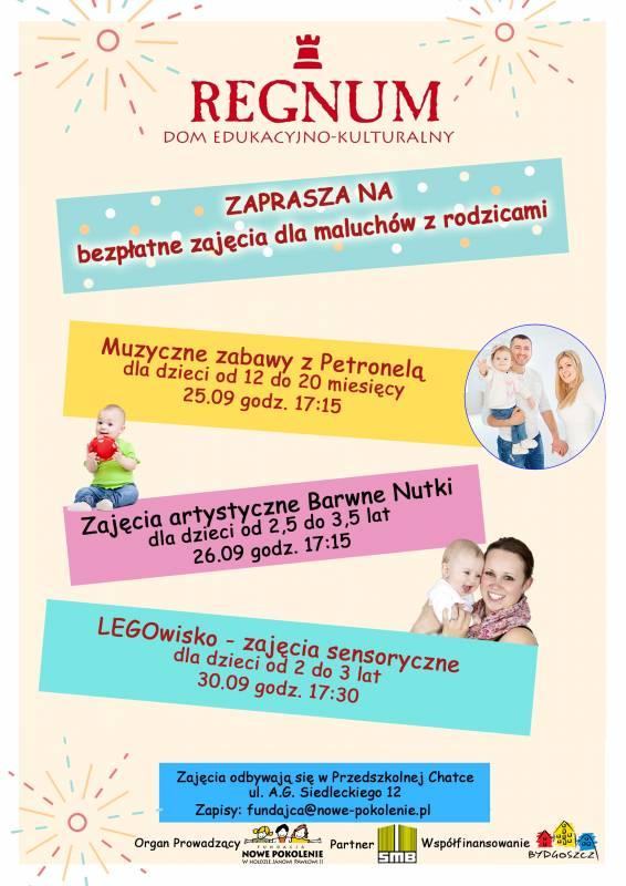 Bezpłatne zajęcia dla maluszków z rodzicami