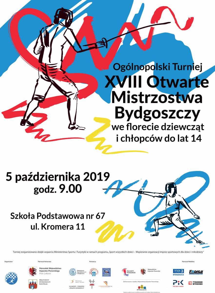 Otwarte Mistrzostwa Bydgoszczy we florecie dziewcząt i chłopców do lat 14