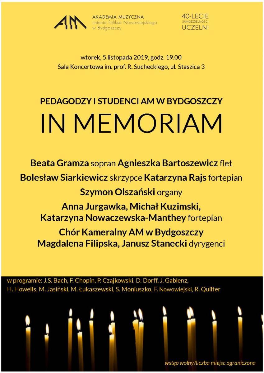 PEDAGODZY I STUDENCI AM W BYDGOSZCZY IN MEMORIAM