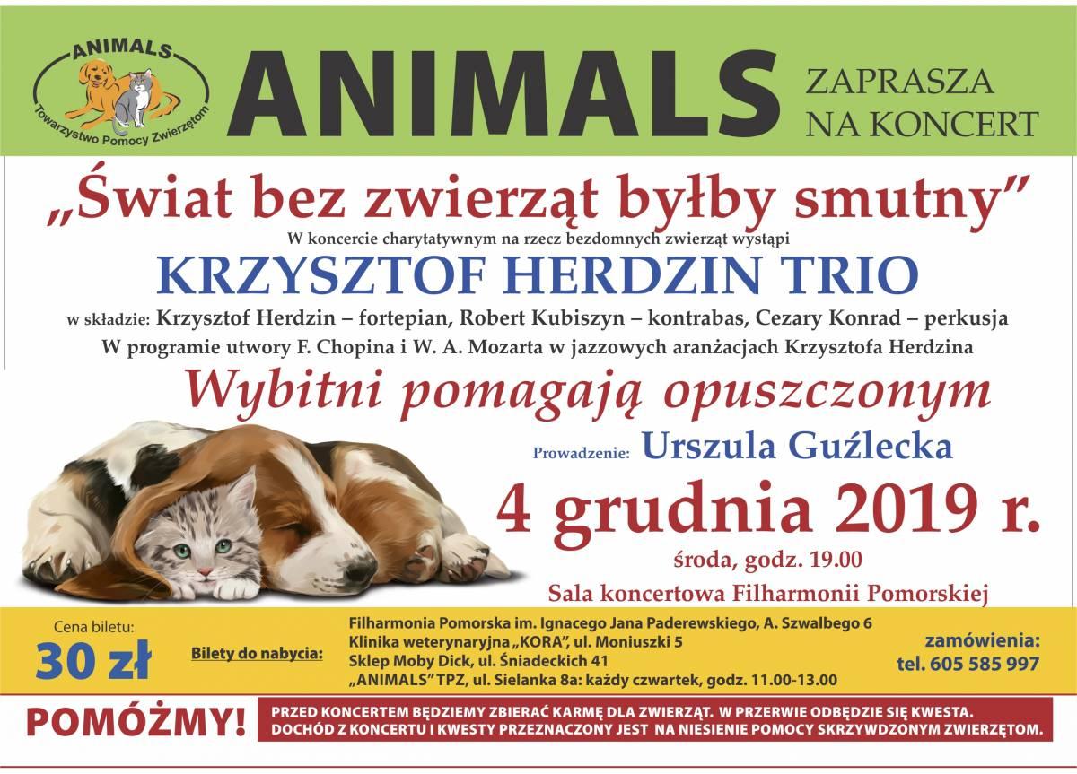 WYDARZENIE IMPRESARYJNE: KONCERT CHARYTATYWNY NA RZECZ ZWIERZĄT - ANIMALS