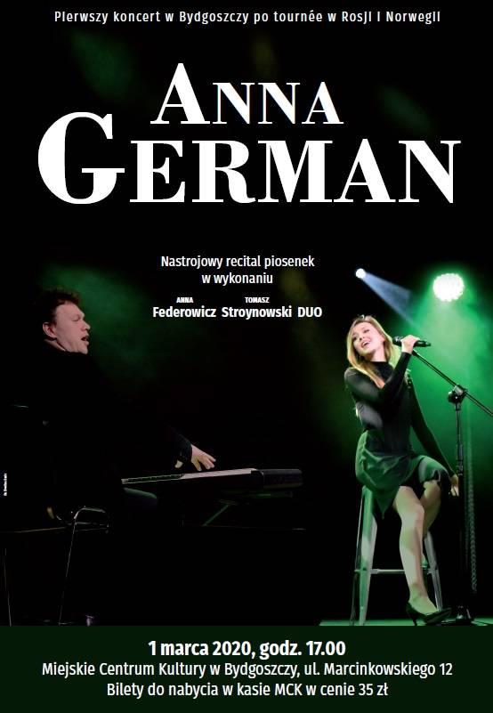 Recital piosenek Anny German w wykonaniu duetu Federowicz Stroynowski DUO