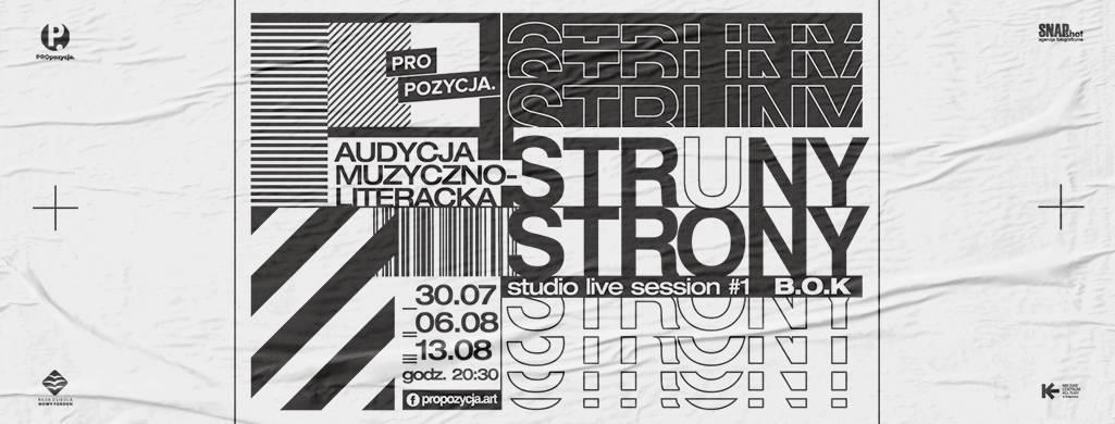 Struny/Strony | studio live session #1 - B.O.K - 1/3 - online
