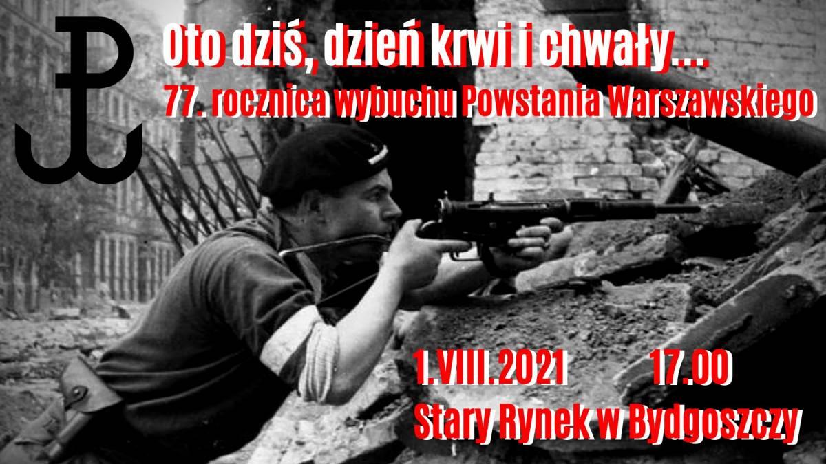 Bydgoska 77. rocznica wybuchu Powstania Warszawskiego