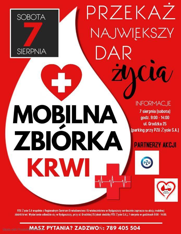 Przekaż największy dar życia - mobilna zbiórka krwi