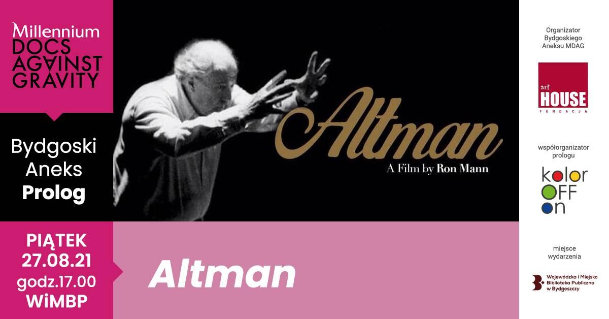 "Millennium Docs Against Gravity Film Festival - ""Altman"""