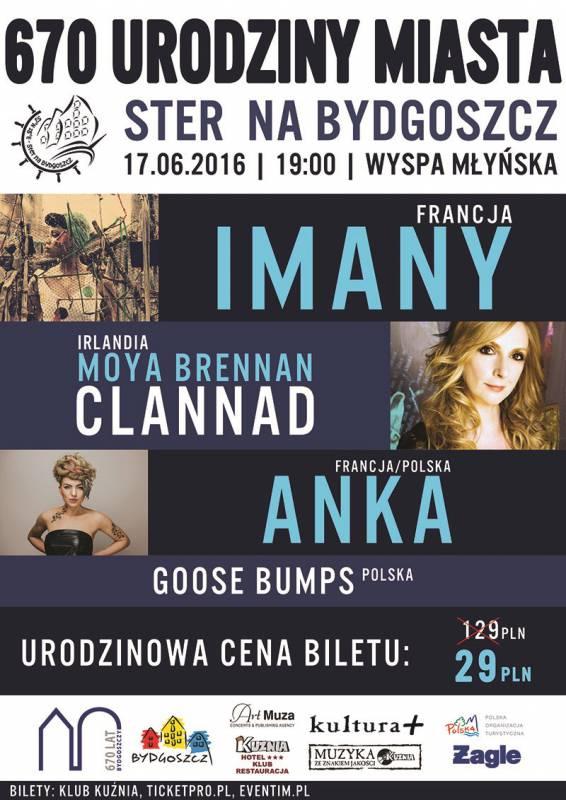 Koncert na urodziny Bydgoszczy: Imany, Brennan, Anka