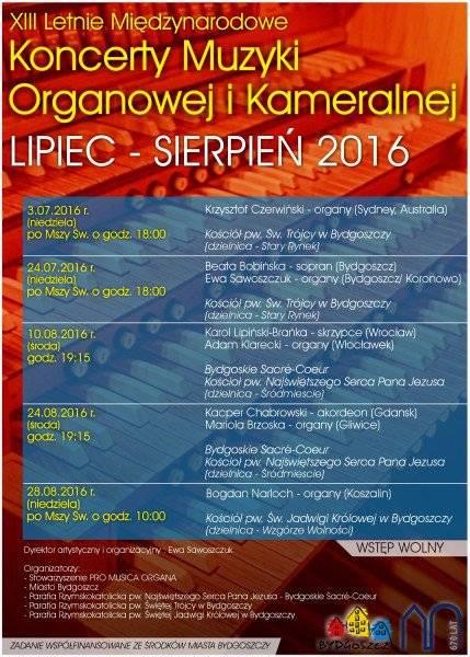 XIII Letnie Międzynarodowe Koncerty Muzyki Organowej i Kameralnej